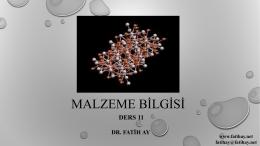 Ders 11 - Yrd.Doç.Dr.Fatih AY