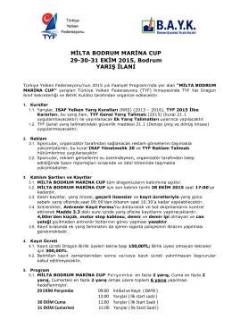 MİLTA BODRUM MARİNA CUP 29-30-31 EKİM 2015