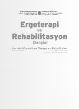 Cilt 3, Sayı 1, Ocak 2015 - Hacettepe Üniversitesi Ergoterapi Ve