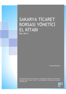 sakarya ticaret borsası yönetici el kitabı