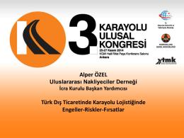 4. Alper ÖZEL (UND) - Karayolu 3. Ulusal Kongresi