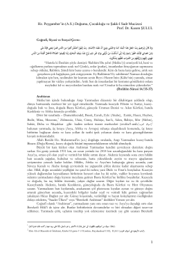 Doğumu, Çocukluğu ve Şakk-I Sadr Mucizesi Prof. Dr