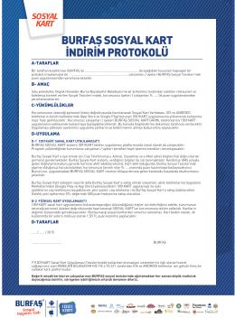 burfaş sosyal kart örnek protokol