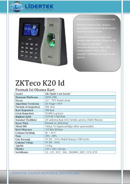K20 Broşür - Lidertek.com.tr
