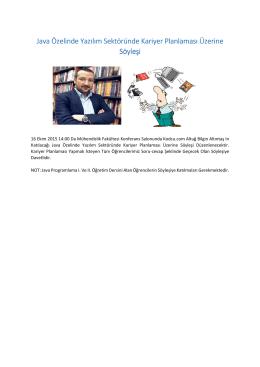 Java Özelinde Yazılım Java Özelinde Yazılım Sektöründe Kariyer