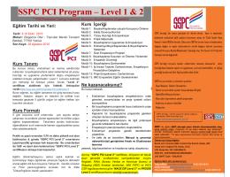 SSPC PCI Level 1&2 – Eğitim Tanıtım Broşürü