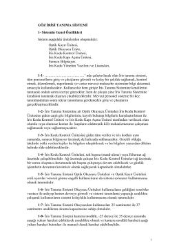 8-10-GÖZ İRİSİ TANIMA SİSTEMİ - Özgür zaman kontrol sistemleri