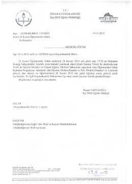 Konu:24 Kasım Öğretmenler Günü - Dinar İlçe Milli Eğitim Müdürlüğü