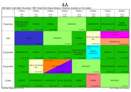 2015-2016 4.sınıflar ders programı