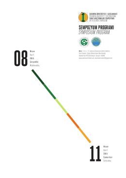 sempozyum programı symposıum program