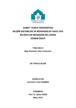 BilgiSistemleriAlımYöntemleriÖdevi2015
