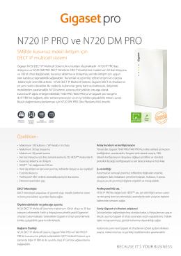 N720 IP PRO ve N720 DM PRO