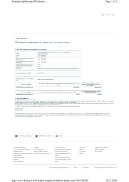 Page 1 of 2 Kamuyu Aydınlatma Platformu 18.03.2015 http://www