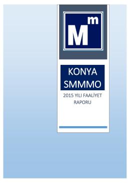 2015 Yılı Faaliyet Raporu - Konya Serbest Muhasebeci Mali