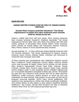 Karsan Üretimi Hyundaı H350`ler Yerli Ve Yabancı Basına Tanıtıldı!