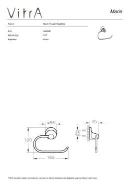 Tanım : Marin Tuvalet Kağıtlığı Kod : A44946 Ağırlık (kg) : 0.27