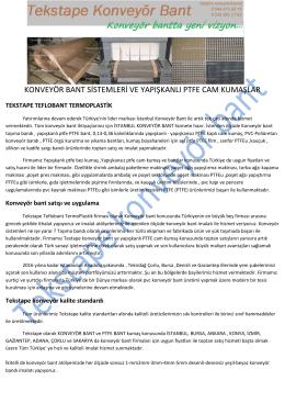 konveyör bant sistemleri PDF