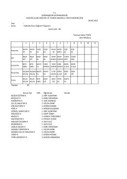 Sayı - DOĞANŞEHİR - Vaizoğulları Mesleki ve Teknik Anadolu Lisesi