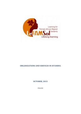 organızatıons and servıces ın ıstanbul october, 2015