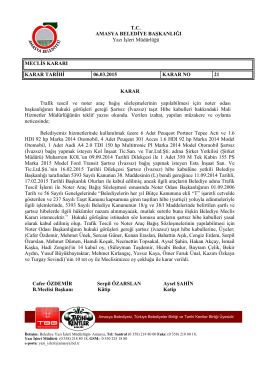 Mart Ayı 21 Nolu Meclis Kararı