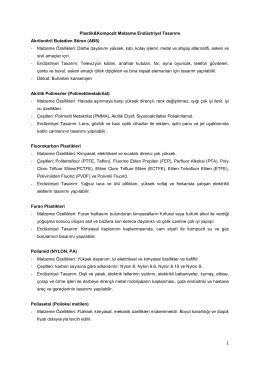 Plastik&Kompozit Malzeme Endüstriyel Tasarımı Akrilonitril Butadien