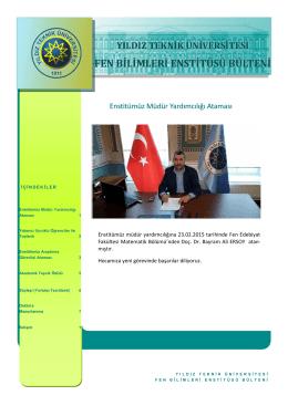 Mart 2015 - Fen Bilimleri Enstitüsü