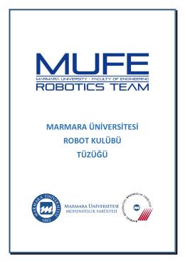 marmara üniversitesi robot kulübü tüzüğü