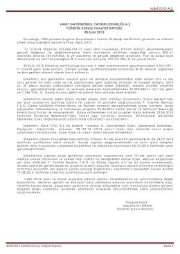 FAALİYET RAPORU 30 09 2015 - Vakıf Gayrimenkul Yatırım