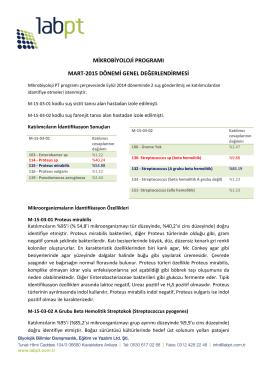mikrobiyoloji programı mart-2015 dönemi genel