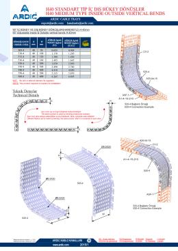 H40 Standart Tip İç Dış Bükey Dönüşler