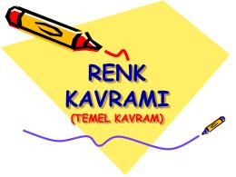 renk kavramı - SİVAS - MERKEZ - Süleyman Sami Kepenek İlkokulu
