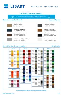 Libart RAL renkleri
