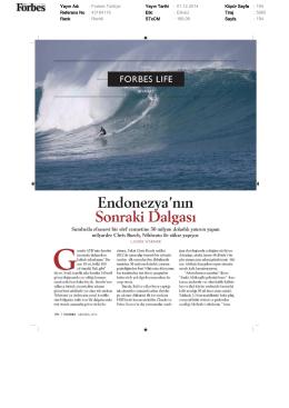Yayın Adı : Forbes Türkiye Yayın Tarihi : 01.12.2014