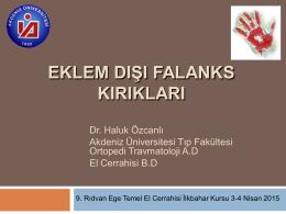 Falanks kırıkları - Türk El ve Üst Ekstremite Cerrahisi Derneği