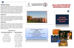 Slayt 1 - Celal Bayar Üniversitesi
