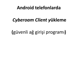 Android Telefonlarda Cyberoam Client Yükleme