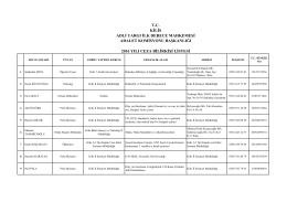Kilis Adliyesi ve İslahiye Adliyesi için 2016 yılında Ceza