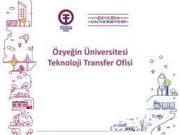 Özyeğin Üniversitesi Teknoloji Transfer Ofisi