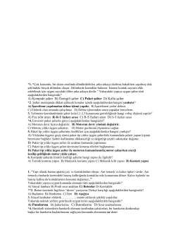 A) Kompakt şalter B) Özengili şalter C) Paket şalter D) Kollu şalter A