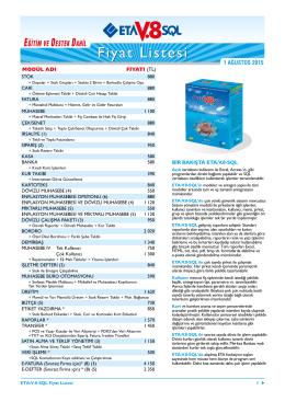 eta v8-sql fiyat listesi