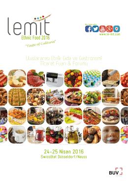 24-25 Nisan 2016 Uluslararası Etnik Gıda ve Gastronomi Ticaret