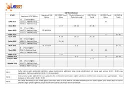 EĞİTİM KONULARI AYLAR Uygulamalı HPLC Eğitimi Uygulamalı