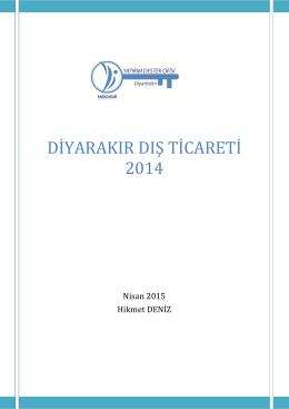 Diyarbakır Dış Ticareti 2014, H. Deniz