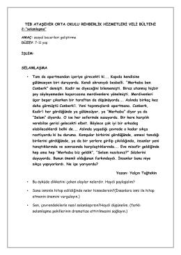 Sosyal Beceri Egzersizleri - T. Emlak Bankası Ataşehir Ortaokulu