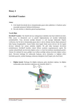 Deney 4 Kirchhoff Yasaları