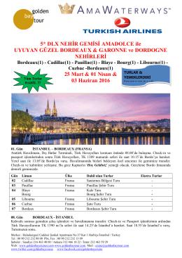Bordeaux(1) - Golden Bay Cruise Gemi Turları