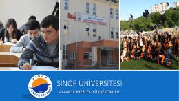 Tanıtım Sunumu - Ayancık Meslek Yüksekokulu