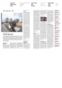 Istanbul Art News - July 2015