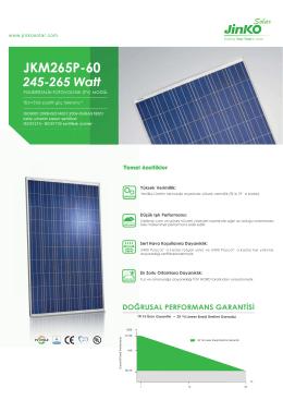 JKM265P-60 - Jinko Solar