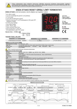 enda et4403 reset girişli limit termostatı